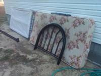 For sale, twin bed. Bed comes with rails, headboard,