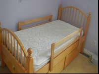 Stanley twin bed and chest set.Mattress is Select