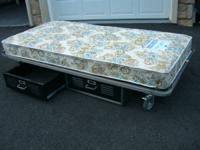 Twin bed by pottery barn made of heavy duty welded