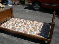 $10 for bed, have mattress for it. $10 for end tables.