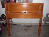 twin bed head board with bult in light call  Location: