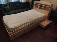 TWIN BED with 3 underdrawers & & matching entertainment