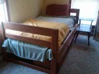 Twin bed set with matching desk and chair from Andreas