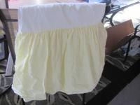 Pottery Barn Twin Bed Skirt ( New) Yellow and white