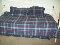 Mattress pad, comforter, bed skirt, sheets, pillow case