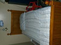 Two brand new twin size beds Real wood looks brand new
