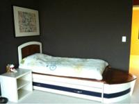 Children's boat themed twin size bed w/trundle Similar