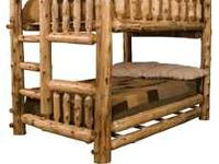 MUST SELL - MOVING. Twin pine lodge pole bunk bed set.