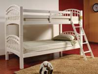 On sale now an InRoom Designs White Twin Bunk Bed Set.