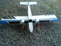 52 inch wing span, twin engines 40 OS engines (new),