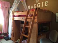 Kids twin loft bedroom set for sale. This is complete