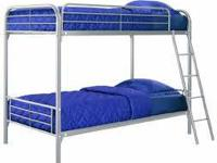 Dorel Twin over Twin Metal Bunk Bed   MSRP: $339 --