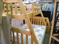 This is a twin over full bunk bed by Woodcrest. The