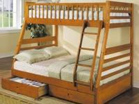 JUST ARRIVED ~ Twin/Full Stackable Bunk Bed, 6/6 Slats