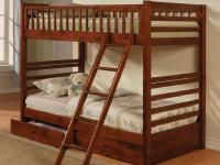 Description Twin over Twin Storage Bunk bed in Cherry
