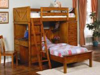 Description Twin over Twin WorkstationBunk bed in