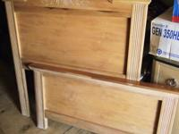 Twin pine bed frame, dresser w/mirror,..all in