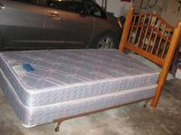 A complete twin bed: clean and in good condition.