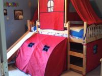 This is a twin size tent Bed with a children slide. The