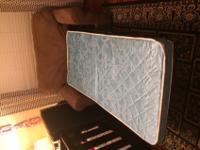 Chair and a half microfiber sofa sleeper. Opens to twin