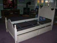 Twin trundle bed is in excellent condition and