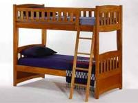 Twin/Twin Hardwood Bunk beds $599 10 Year Warranty