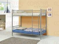 Twin/ Twin Silver Bunk Bed!! NEW!! $199 Still in Box!