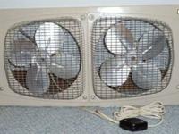 Vintage Marvin Twin Window Fan Unit. Made in USA