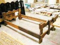 Solid Wood, Rustic Twin-sized Bed Frame. Used: Good