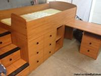 We are moving and are selling a twin size Captain's bed