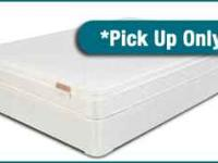 This twin pillow top mattress is available for pick up