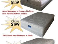 Twin Pillow Top Mattress Set. New, never been slept on
