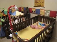 2 cribs and dresser/changing table in espresso finnish