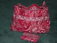 I have a pink vera bradley purse and wallet for sale.