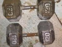 Grown man weights. Paid $120. Total of 240lbs. . //