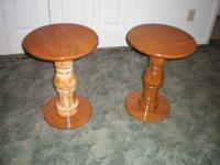 handcrafted, brand new,, two 16 inch round solid oak