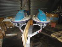 "Descripción Two 1994 Jet Skis 9'9"" 580cc with newer"