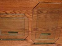 TWO (2) HEAVY GLASS PICTURE FRAMES ~ VERY NICE NEED TO