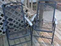 Classic black metal chairs for your deck, porch or