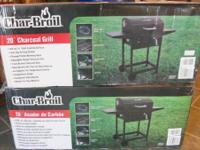 "I have two new in the box 20"" Charbroil charcoal grills"