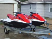 Two 2006 Honda AquaTrax F-12X Jet Skiis. Original