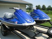 Two, freshwater, four stroke, 2007 Yamaha VX Deluxe in