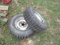 Two like new 235-75-15 mud terrain tires. They were on