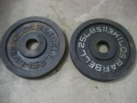 Good shape Barbell weights. Olympic bar size. $25 OBO