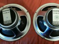 Celestion 12 inch guitar cab speakers in good shape