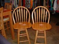 Two Nice bar stools $25.00 Each. Come see at The Impact