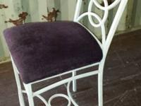 2 Very Nice Ivory Metal Bar Stools for sale. The