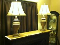 Two beautiful premium Asian style table lamps.  These