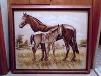 Two beautiful oil paintings for the horse lover or