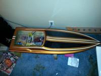 hi for sale is two 48 inch RC boats. 1 is gas